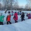 Зимние забавы на прогулке. Детский сад №14