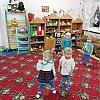 Утренняя зарядка «снежинки» в группе раннего возраста 2 Детский сад №1.
