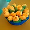 Тюльпаны из пластиковых ложек. Детский сад №4