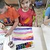 Конспект занятия Рисование « Северное сияние» подготовительная группа 2. Детский сад №1